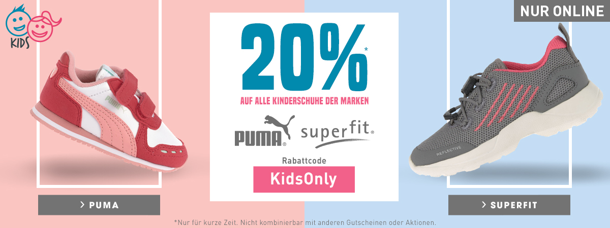 20% Rabatt Kinderschuhe Superfit Puma